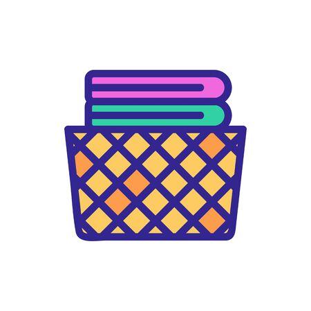 cage basket for home icon vector. cage basket for home sign. color symbol illustration