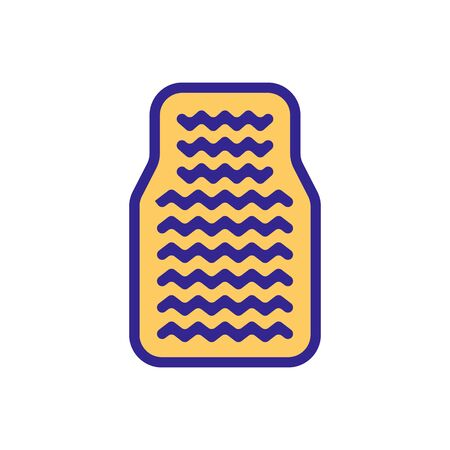 velor mats with inlays icon vector. velor mats with inlays sign. color symbol illustration