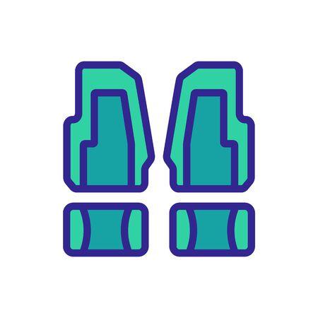 vehicle flooring icon vector. vehicle flooring sign. color symbol illustration