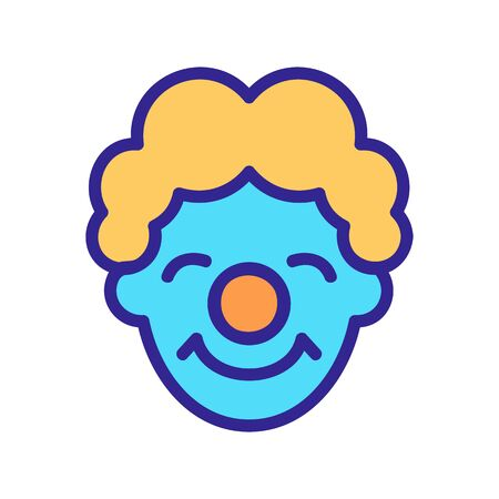 satisfied clown mask icon vector. satisfied clown mask sign. color symbol illustration