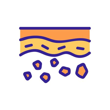 deep layer of stones in soil icon vector. deep layer of stones in soil sign. color symbol illustration Çizim