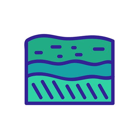 soil layers icon vector. soil layers sign. color symbol illustration