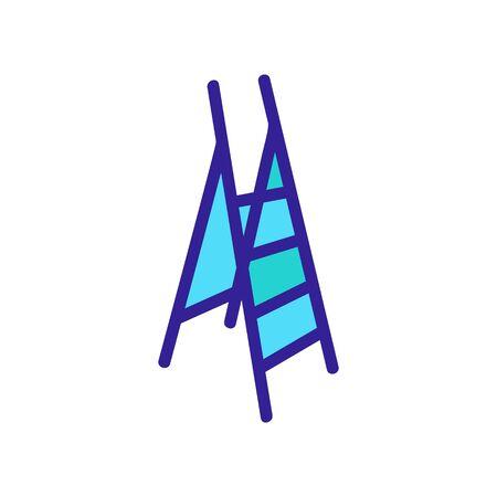 self-regulating distance not very safe ladder icon vector. self-regulating distance not very safe ladder sign. color symbol illustration Illusztráció