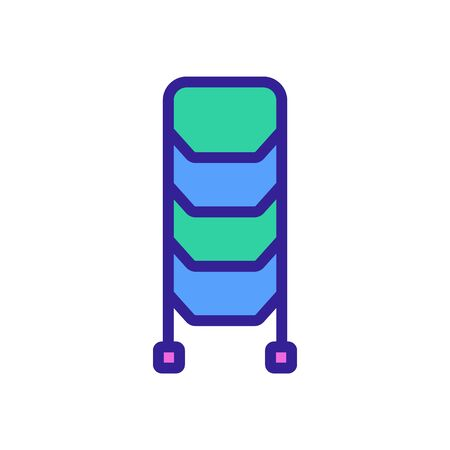 standing staircase icon vector. standing staircase sign. color symbol illustration Standard-Bild - 146383294