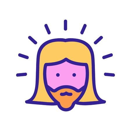 shining holy jesus icon vector. shining holy jesus sign. color symbol illustration