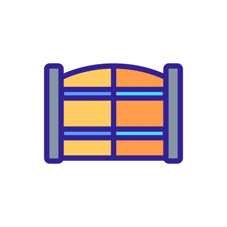 entrance gate with horizontal safety bars icon vector. entrance gate with horizontal safety bars sign. color symbol illustration Ilustrace