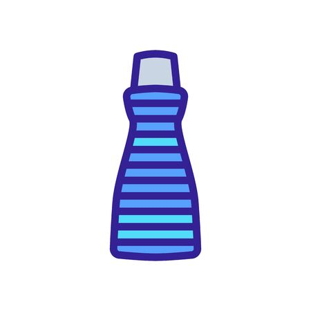 one-piece kitchen apron with pocket icon vector. one-piece kitchen apron with pocket sign. color symbol illustration