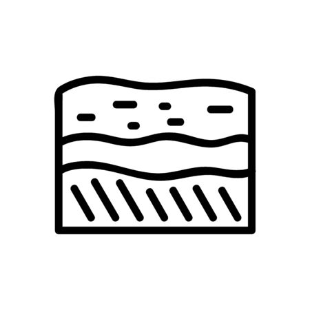 soil layers icon vector. soil layers sign. isolated contour symbol illustration