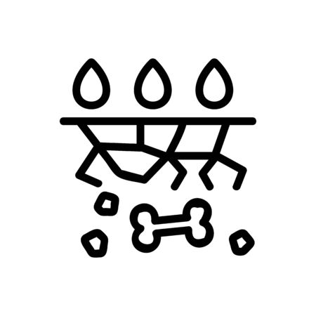watering dried soil icon vector. watering dried soil sign. isolated contour symbol illustration
