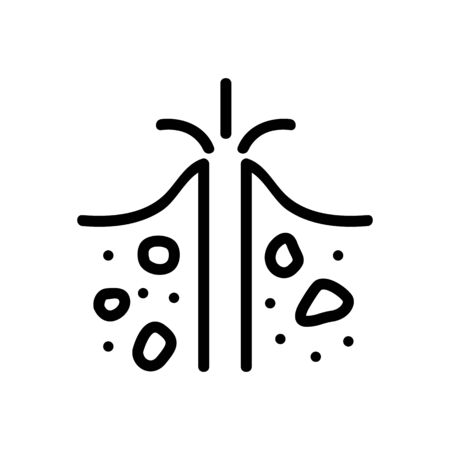 air out of soil icon vector. air out of soil sign. isolated contour symbol illustration