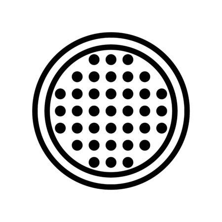 leds pixels icon vector. leds pixels sign. isolated contour symbol illustration Çizim
