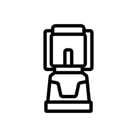 burning kerosene lamp icon vector. burning kerosene lamp sign. isolated contour symbol illustration