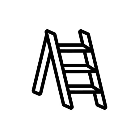 small building ladder icon vector. small building ladder sign. isolated contour symbol illustration