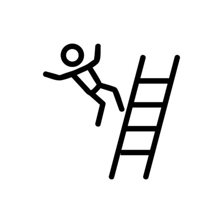 man falling from stairs icon vector. man falling from stairs sign. isolated contour symbol illustration