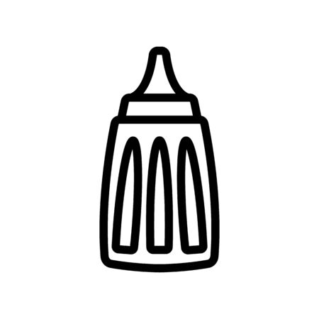 special professional ketchup jar icon vector. special professional ketchup jar sign. isolated contour symbol illustration