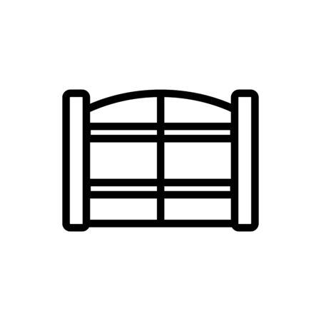 entrance gate with horizontal safety bars icon vector. entrance gate with horizontal safety bars sign. isolated contour symbol illustration