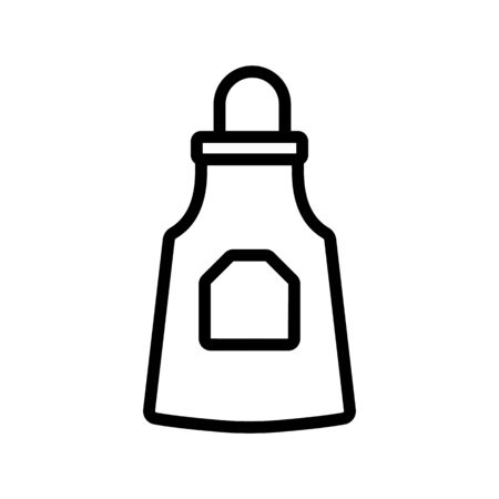 overhead apron icon vector. overhead apron sign. isolated contour symbol illustration