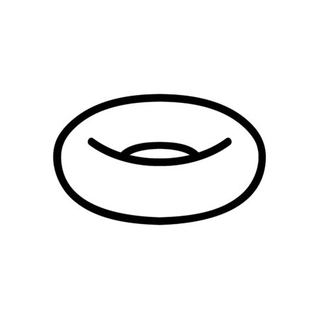 inflatable swimming ring side view icon vector. inflatable swimming ring side view sign. isolated contour symbol illustration Иллюстрация