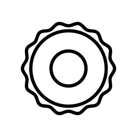 ruffle rubber ring icon vector. ruffle rubber ring sign. isolated contour symbol illustration