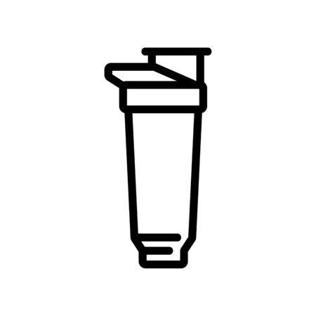 shaking auxiliary glass shaker icon vector. shaking auxiliary glass shaker sign. isolated contour symbol illustration