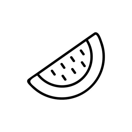 piece of watermelon icon vector. piece of watermelon sign. isolated contour symbol illustration