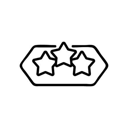 three stars sign icon vector. three stars sign sign. isolated contour symbol illustration Reklamní fotografie - 146383878