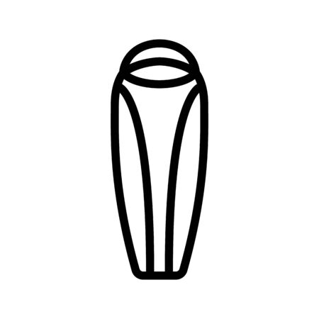 camping cocoon sleeping bag icon vector. camping cocoon sleeping bag sign. isolated contour symbol illustration