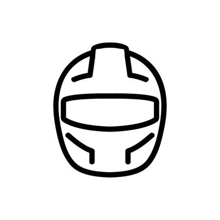 protective fullface helmet front view icon vector. protective fullface helmet front view sign. isolated contour symbol illustration