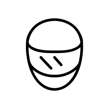 safety helmet with front view visor icon vector. safety helmet with front view visor sign. isolated contour symbol illustration