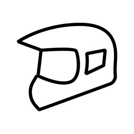 modular flip up helmets icon vector outline illustration
