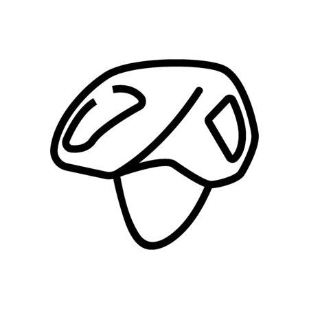 open face helmet without visor icon vector. open face helmet without visor sign. isolated contour symbol illustration Ilustracja