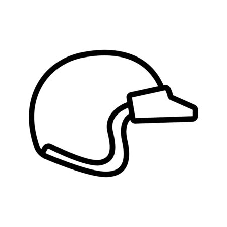 helmet with fully enclosed long visor icon vector. helmet with fully enclosed long visor sign. isolated contour symbol illustration