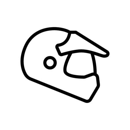 helmets for enduro and tourism with visor icon vector. helmets for enduro and tourism with visor sign. isolated contour symbol illustration