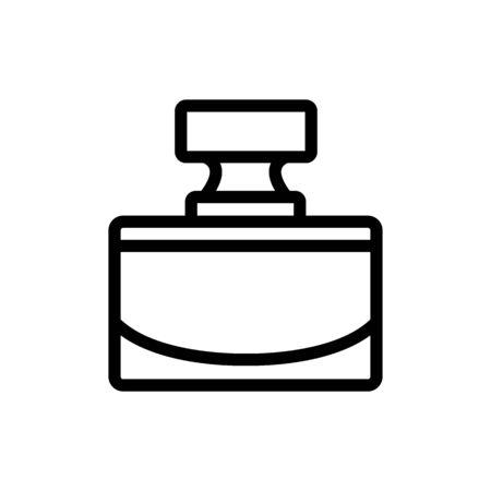 bottle perfume cologne icon vector. bottle perfume cologne sign. isolated contour symbol illustration Ilustração