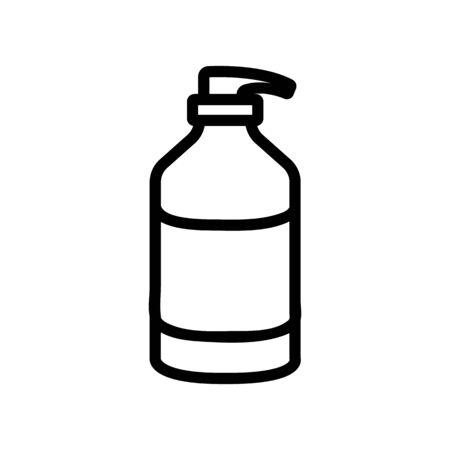 liquid cream with dispenser icon vector. liquid cream with dispenser sign. isolated contour symbol illustration Ilustração