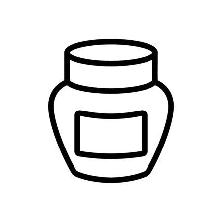 cream jar icon vector. cream jar sign. isolated contour symbol illustration Ilustração