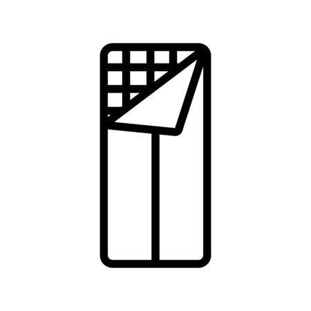 ajar sleeping bag blanket icon vector. ajar sleeping bag blanket sign. isolated contour symbol illustration