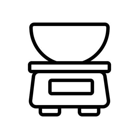 commercial scales with weighing bowl icon vector. commercial scales with weighing bowl sign. isolated contour symbol illustration