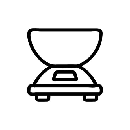 electric scales with weighing bowl side view icon vector. electric scales with weighing bowl side view sign. isolated contour symbol illustration Ilustração