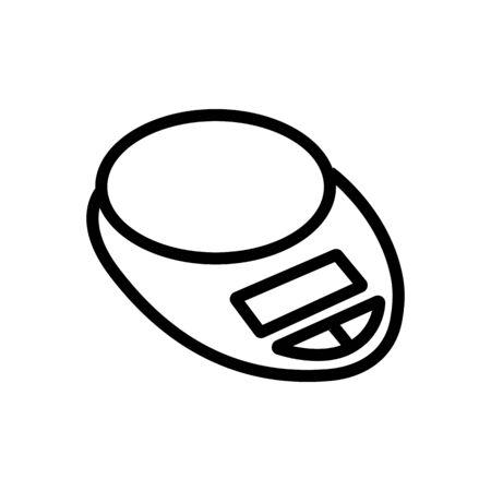 round platform measuring scale outdoor icon vector. round platform measuring scale outdoor sign. isolated contour symbol illustration