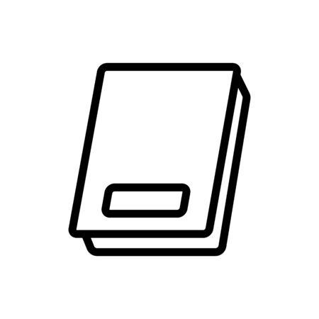 rectangular shaped electric flat scales icon vector. rectangular shaped electric flat scales sign. isolated contour symbol illustration