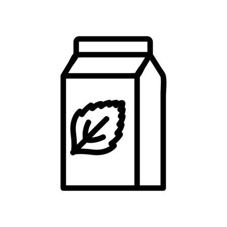 refreshing packaged mint yogurt icon vector. refreshing packaged mint yogurt sign. isolated contour symbol illustration