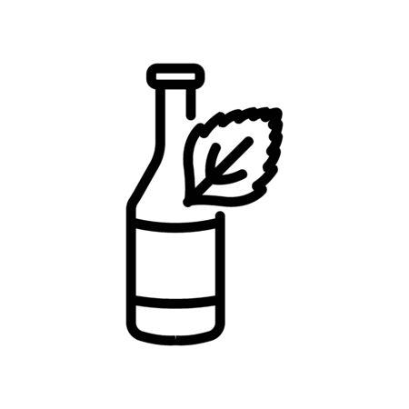 mint yogurt icon vector. mint yogurt sign. isolated contour symbol illustration