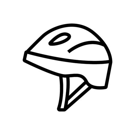 safety helmet on head for auto racing icon vector. safety helmet on head for auto racing sign. isolated contour symbol illustration
