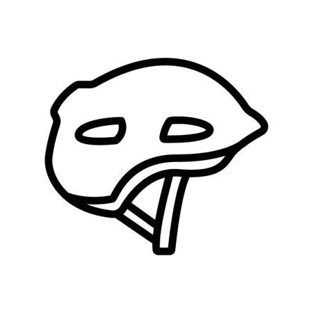 safety helmet for car racing icon vector. safety helmet for car racing sign. isolated contour symbol illustration Illustration