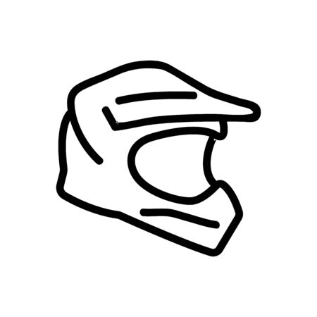 off road racing helmet icon vector. off road racing helmet sign. isolated contour symbol illustration