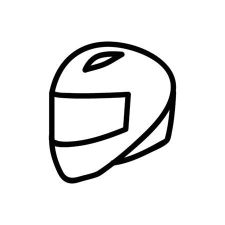 closed helmet integral icon vector. closed helmet integral sign. isolated contour symbol illustration