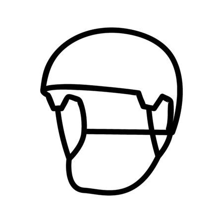 open visor helmets icon vector. open visor helmets sign. isolated contour symbol illustration