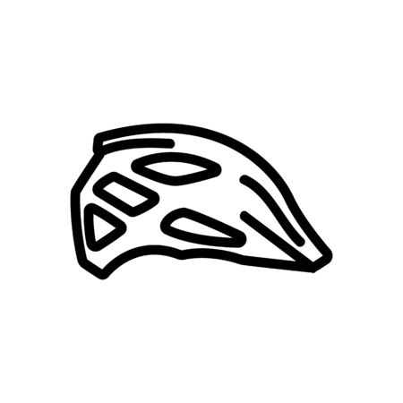 protective motocross racing helmet icon vector. protective motocross racing helmet sign. isolated contour symbol illustration Illustration