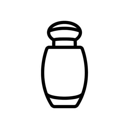 small bottle of perfume icon vector. small bottle of perfume sign. isolated contour symbol illustration Ilustração